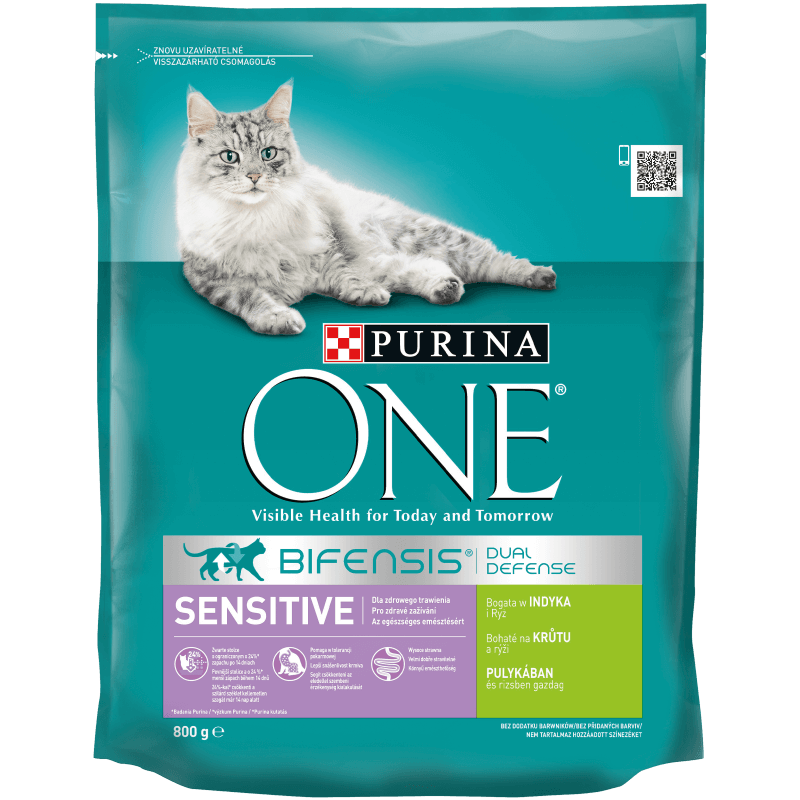​PURINA ONE Sensitive, Bogata w Indyka