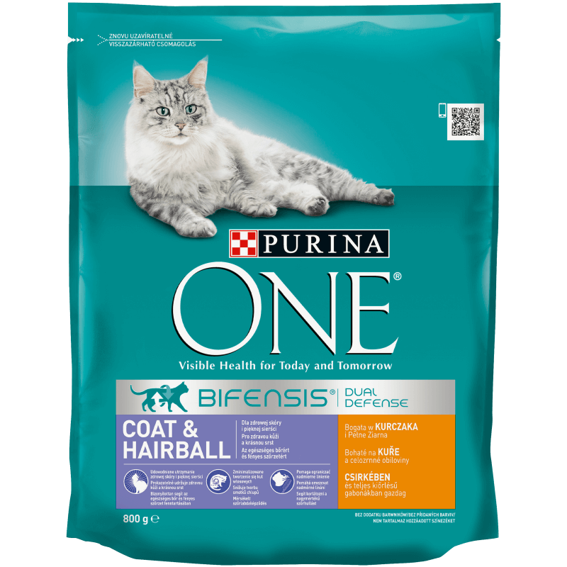 ​PURINA ONE Coat & Hairball, Bogata w kurczaka