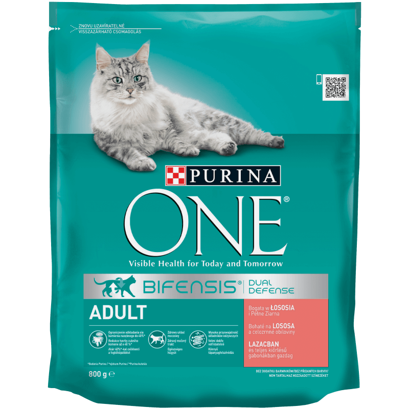 PURINA ONE Adult Cat, Bogata w łososia