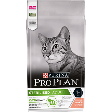 PURINA® PRO PLAN® STERILISED z OPTIRENAL® Bogata w łososia