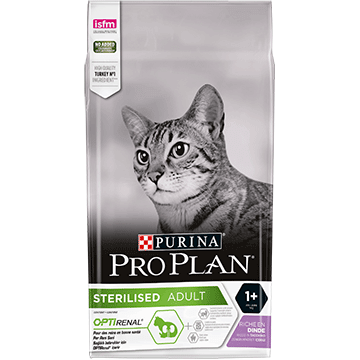 PURINA® PRO PLAN® STERILISED z OPTIRENAL® Bogata w indyka