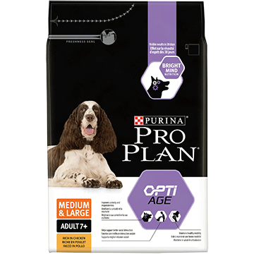 PURINA® PRO PLAN® MEDIUM & LARGE ADULT 7+ Z OPTIAGE®, SUCHA KARMA BOGATA W KURCZAKA